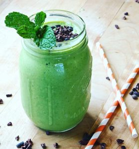 Healthy Raw Mint-Chip Shamrock Smoothie